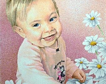 Custom Portraits in Pointillism (all dots)