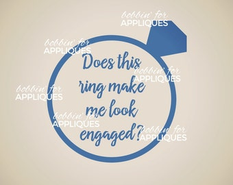 Does this ring make me look engaged? SVG cut file for vinyl cutters