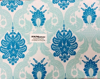 Car Seat Canopy ~ Blue/Turqouis Damask