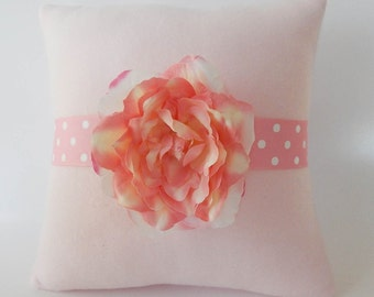 Single Pink Flower Baby Pillow