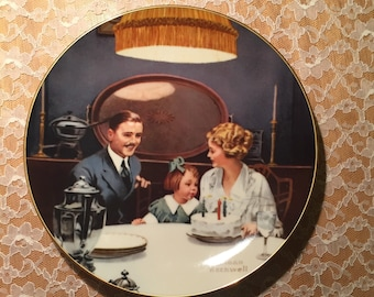 "Norman Rockwell's ""Birthday Wish"" Collectors Plate 1984 - Free Shipping"