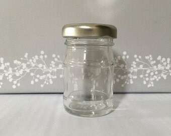 50 MiniatureGlass Jars for wedding favours 50ml