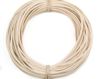 Rawhide Round Leather Cord 2mm, 100 meters (109 yards)