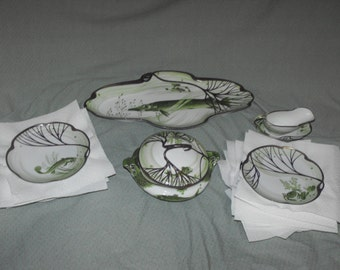 Rare Nymphenburg Porcelain Hermann Gradl Belle Epoque Fish Dinnerware Set
