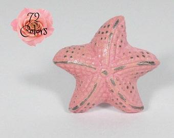 Starfish Drawer Knob Sweet Pea Pink Shabby Chic Metal