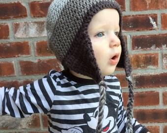 Ombré Earflap Hat