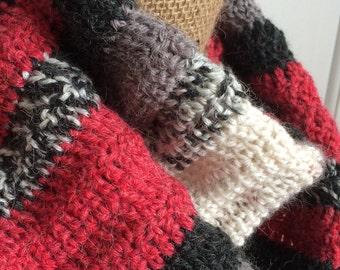 SALE--Gift Idea for Her/Mother/Sister/Wife/Teen Gift Ideas/Girlfriend/Fiancé/Co-Worker/Teacher--Teen/Women's 50 Inch Crochet Circle Scarf