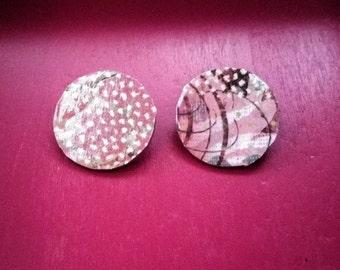 Plush- Handmade Wooden Earrings