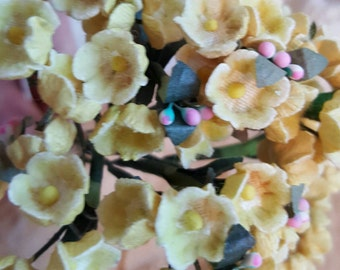 Vintage Millinery Yellow Forget Me Nots