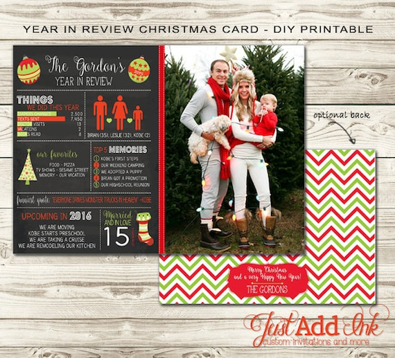Justaddinkcreatives Year In Review Christmas Card Diy Printable