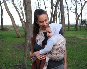 Brown Baby Sling / Baby ring sling /Baby wrap carrier / Reversible Baby Sling /Baby Wrap/Baby sling