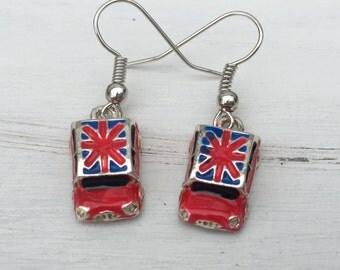 Union Jack Car Earrings