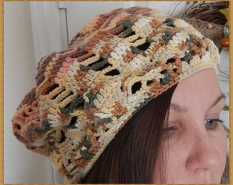 Changing Leaves - Cotton beret