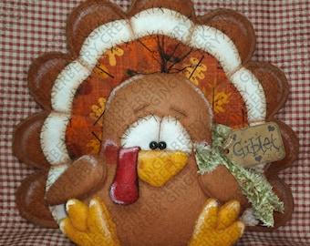 E-Pattern - Giblet the Turkey Pattern #200 - Primitive Doll E-Pattern