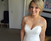 SWAROVSKI Bridal shoulder necklace for wedding,bridesmaid,proms, partie and special occasion. #008