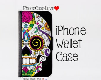 Sugar skull iPhone SE Case - sugar skull iPhone SE Wallet Case - sugar skull iphone SE - sugar skull iPhone se Wallet
