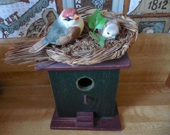 Bird house outdoor bird house rustic birdhouse decorative birdhouse garden summer decoration BUY 2 GET 1 FREE (lowest priced item is free)