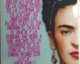 Frida Locura tile / Coaster by Very That | Water Resistant
