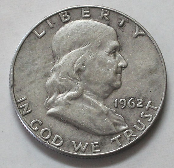 1962 D Franklin 90 Silver Half Dollar Coin Sku 579