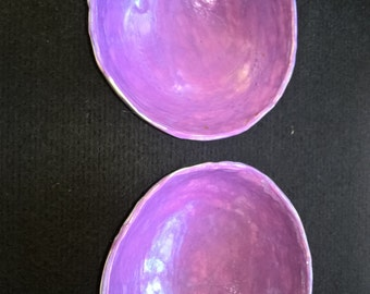 Painted purple centered bowl
