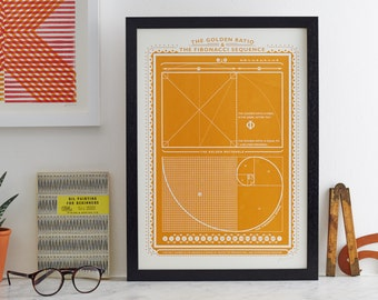 Fibonacci sequence and the golden ratio. FIBONACCI. Screen print by James Brown