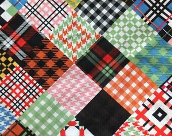 Pattern cotton shopper bag