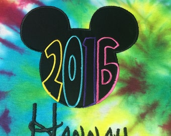 Tie Dyed 2017 Disney Shirt - Adult