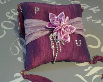 Faith cushion personalized with initials