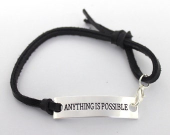 Anything is Possible Bracelet, brown