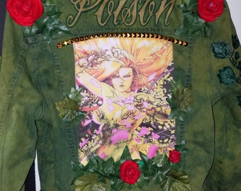 Poison Ivy Punk Jean Jacket