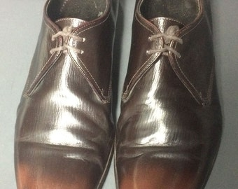 Burberry Two Tone Toe Brown Leather Derby Shoes Men's Size 43 Size 10 US