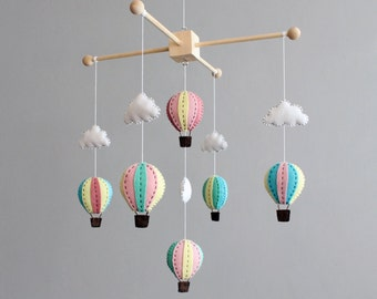 PATTERN - how to make your own hot air balloon crib mobile