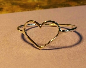 Delicate Heart Ring in Sterling Silver