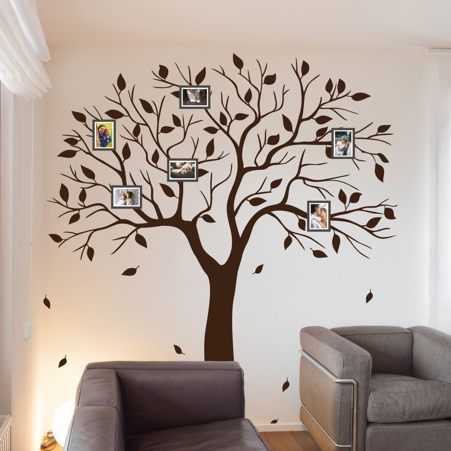 Family Tree Wall Decal Family Photo Wall Sticker Branches