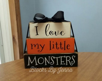 I love my little MONSTERS wood block set