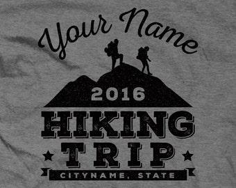 Custom Vintage Hiking Trip or Trail Shirts