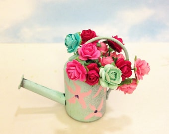 Shabby Chic Watering Can Fairy Garden Accessory
