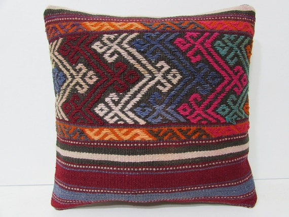 oversized pillow 18x18 rustic bedding floor by DECOLICKILIMPILLOWS