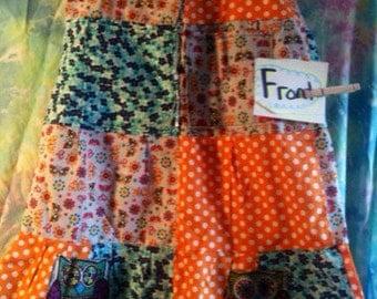 Patchwork skirt women's small