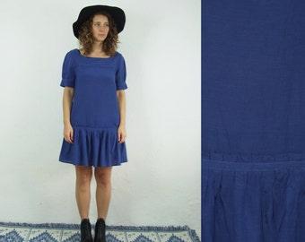 20's style  women's blue minimal dress