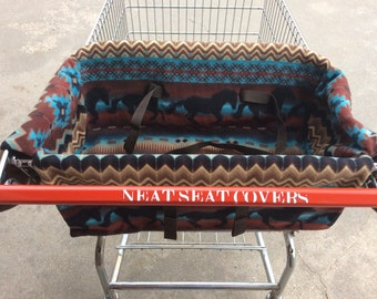 Shopping Cart Seat Covers, Horses in Southwestern
