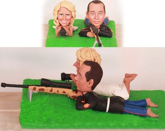 Sniper theme topper - Personalised wedding cake topper  (Free shipping)