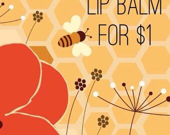 DOLLAR ADD ON Beeswax Lip Balm - Caramel Mocha Shimmer