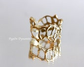 """Statement Ring: Organic Lace Ring """"Jukai"""" Size 6.5 *made to order in Brass or Sterling Silver or 14k Solid Gold"""