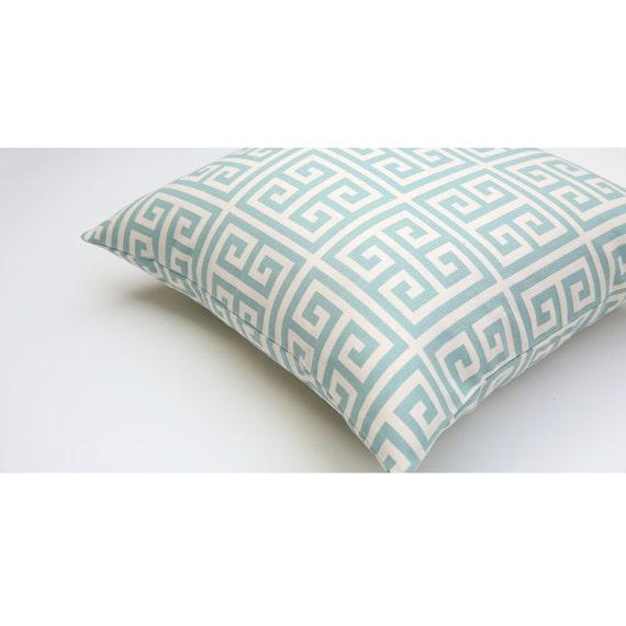 Key Decorative Pillow : Greek Key Decorative Throw Pillow Cover 16x16 18x18 by Pillomatic