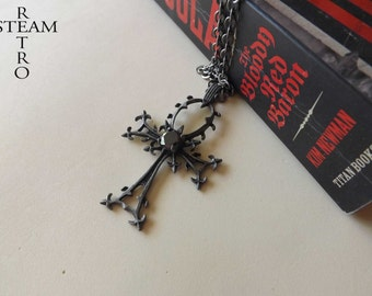 10% off sale17 The Valerious Gothic Necklace - gothic cross - vampire necklace - gothic jewelry - gothic jewellery