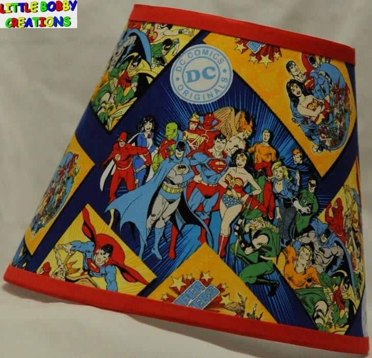 Justice League Dc Comics Batman Superman Fabric Lamp Shade