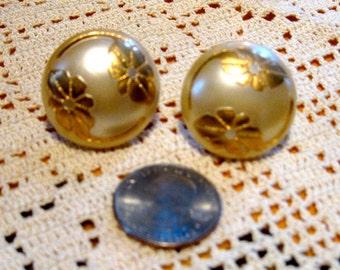 1950's Half-dome Earrings