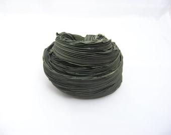 Camo Green Shibori Silk Ribbons 2/4438