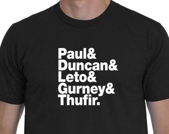 Dune Themed Helvetica List T-shirt